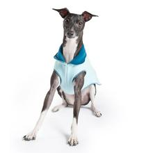 Gold Paws Reversible Double Fleece Jacket - Marine/Robin Egg Blue