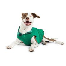 Gold Paws Reversible Double Fleece Jacket - Wintergreen Plaid/Emerald