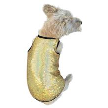 Gold Stardust Sequined Dog Tank by The Dog Squad