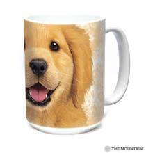 Golden Retriever Puppy Ceramic Mug by The Mountain