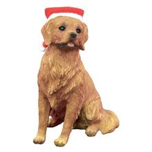 Golden Retriever Sitting Christmas Ornament
