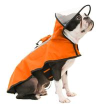 Gooby Adjustable Dog Raincoat - Orange