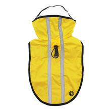 Gooby Adjustable Dog Raincoat - Yellow
