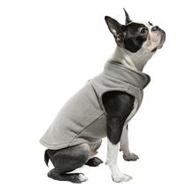 Gooby Fleece Dog Vest - Gray