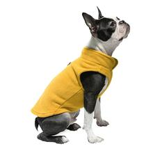 Gooby Fleece Dog Vest - Honey Mustard