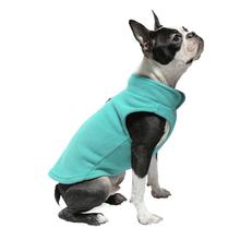 Gooby Fleece Dog Vest - Turquoise