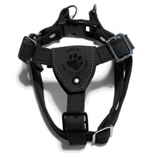 Gooby Luxury Step-In Dog Harness - Black