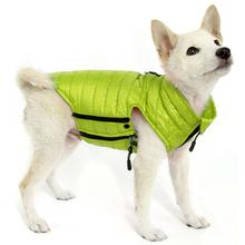 Gooby Puffer Down Dog Vest - Lime