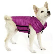Gooby Puffer Down Dog Vest - Purple