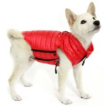 Gooby Puffer Down Dog Vest - Red