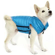 Gooby Puffer Down Dog Vest - Turquoise