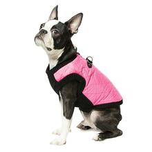 Gooby Fashion Quilted Dog Vest - Pink