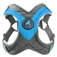 Gooby Trekking Step-in Memory Foam Dog Harness - Ocean Blue