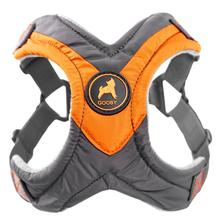 Gooby Trekking Step-in Memory Foam Dog Harness - Mandarin Orange