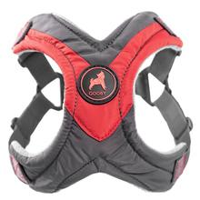 Gooby Trekking Step-in Memory Foam Dog Harness - Red