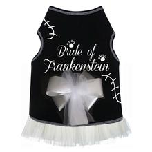 Bride of Frankenstein Tank Dog Dress - Black