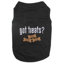 Got Treats Dog Tank by Parisian Pet - Black