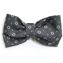 Gray Lifering Print Dog Bow Tie from Daisy and Lucy