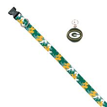 Green Bay Packers Team Camo Dog Collar and Tag by Yellow Dog