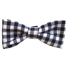 Checkered Dog Bow Tie from Daisy and Lucy - Navy and White