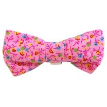 Pink Flowers Dog Bow Tie from Daisy and Lucy