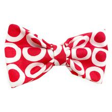 White Circles on Red Dog Bow Tie from Daisy and Lucy