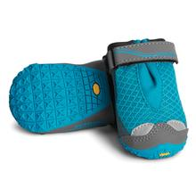 Grip Trex Dog Boots by RuffWear - 4 Pack - Blue Spring with Gray Trim