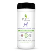 Pure and Natural Pet Grooming and Cleansing Wipes for Dogs - Lavender and Rosemary