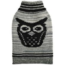 Growl Owl Dog Sweater By Hip Doggie - Grey