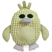 Grriggles Corduroy Cool Dudes Dog Toy - Green Duck