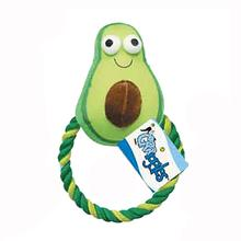 Grriggles Happy Veggies Rope Tug Dog Toy - Avocado