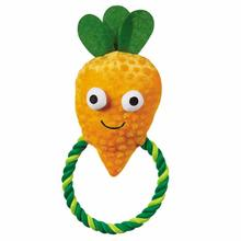 Grriggles Happy Veggies Rope Tug Dog Toy - Carrot