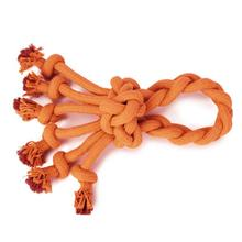 Grriggles Ruff Rope Dog Toy - Orange Loop
