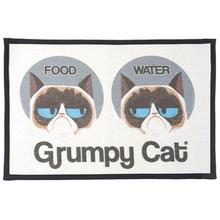 Grumpy Cat Food Water Tapestry Placemat