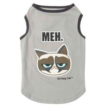 Grumpy Cat Meh Dog T-Shirt - Gray