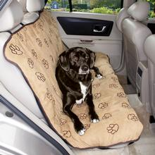 Cruising Companion Pawprint Seat Cover - Camel