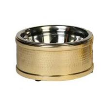 Hampton Dog Bowl - Gold