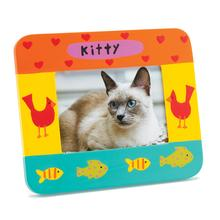 Hand Painted Cat Picture Frame