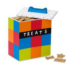 Hand Painted Multicolor Dog Treat Box