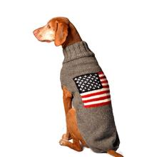 Handmade American Flag Wool Dog Sweater