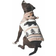 Handmade Brown Bear Hooded Wool Dog Sweater