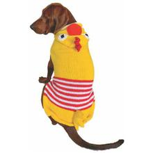 Handmade Chicken Hooded Wool Dog Sweater