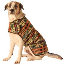 Southwest Denim Blanket Dog Coat
