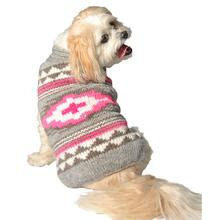 Handmade Pink Southwest Wool Dog Sweater