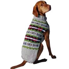 Handmade Fairisle Wool Dog Sweater - Gray