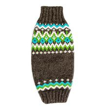 Handmade Fairisle Wool Dog Sweater - Charcoal