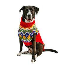 Handmade Fairisle Wool Dog Sweater - Holiday