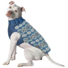Handmade Alpaca Fairisle Wool Dog Sweater - Teal