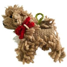 Handmade Knit Tree Dog Ornament - Doodle