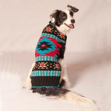 Handmade Black Southwest Wool Dog Sweater